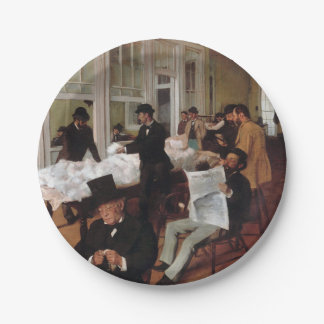 EDGAR DEGAS- A cotton office in New Orleans 1873 Paper Plate