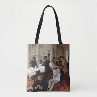 EDGAR DEGAS- A cotton office in New Orleans 1873 Tote Bag