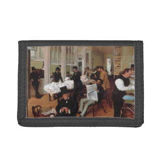 EDGAR DEGAS- A cotton office in New Orleans 1873 Trifold Wallets