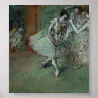 Edgar Degas - A Group of Dancers Print