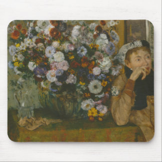 Edgar Degas - A Woman Seated beside a Vase Mouse Pad