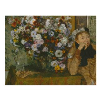 Edgar Degas - A Woman Seated beside a Vase Postcard
