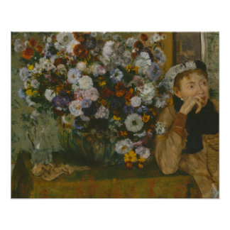 Edgar Degas - A Woman Seated beside a Vase Poster