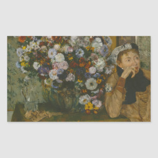 Edgar Degas - A Woman Seated beside a Vase Rectangular Sticker