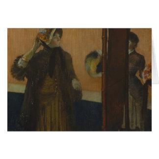 Edgar Degas - At the Milliner's Card