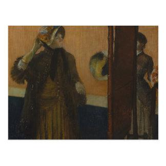 Edgar Degas - At the Milliner's Postcard