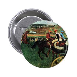 Edgar Degas, At the Races 6 Cm Round Badge