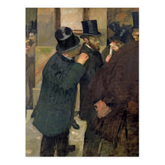Edgar Degas | At the Stock Exchange, c.1878-79 Postcard