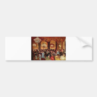 Edgar Degas - Ball Dinner Copy Menzell oil Theatre Bumper Sticker