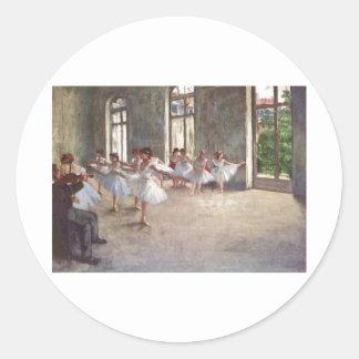 Edgar Degas - Ballet Rehearsal Class 1873 oil Round Sticker