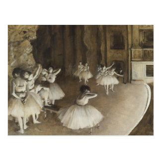 Edgar Degas – Ballet Rehearsal on Stage Postcard