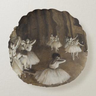 Edgar Degas Ballet Rehearsal On Stage Round Cushion