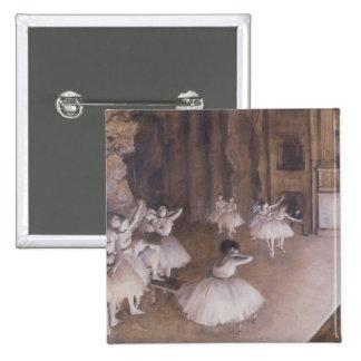 Edgar Degas   Ballet Rehearsal on the Stage, 1874 15 Cm Square Badge