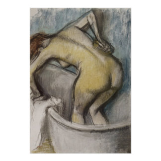 Edgar Degas - Bath Woman Supporting Back 1887 Poster