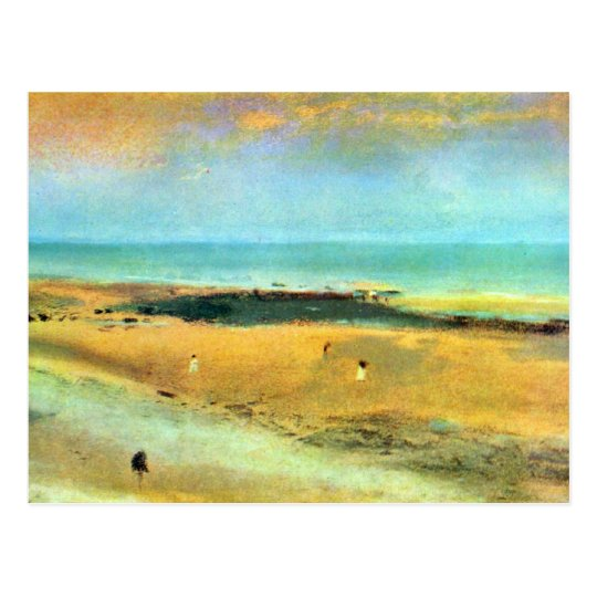 Edgar Degas - Beach at low tide Postcard