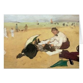 Edgar Degas   Beach scene Card