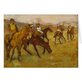 Edgar Degas - Before the Race Card