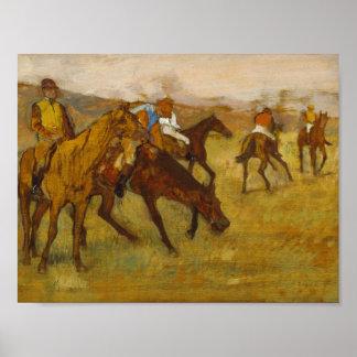 Edgar Degas - Before the Race Poster