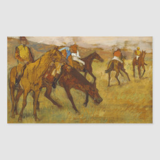 Edgar Degas - Before the Race Rectangular Sticker