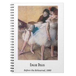Edgar Degas, Before the Rehearsal, 1880, Fine Art Notebook