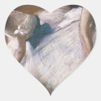 Edgar Degas Before The Rehearsal Heart Sticker
