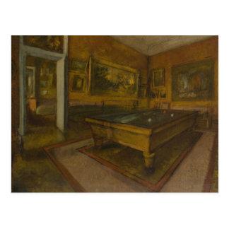 Edgar Degas – Billiard Room at Menil-Hubert Postcard