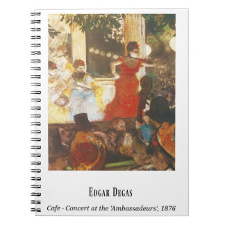 Edgar Degas, Cafe -  Concert at the 'Ambassadeurs' Notebook