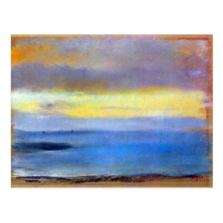 Edgar Degas - Coastal strip at sunset Postcard