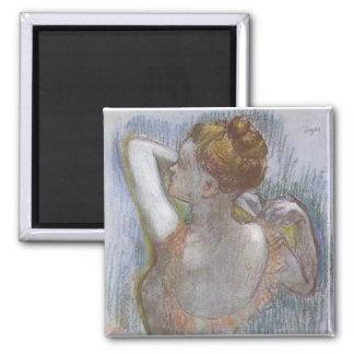 Edgar Degas - Dancer 1899 Ballerina Ballet pastel Square Magnet