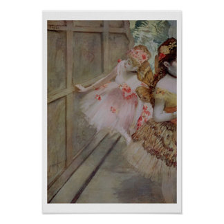 Edgar Degas | Dancer against a stage flat, c.1880 Poster
