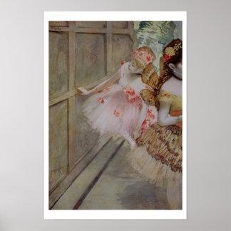 Edgar Degas | Dancer against a stage flat, c.1880 Poster