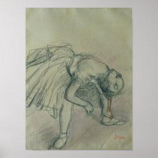 Edgar Degas | Dancer Fixing her Slipper, c.1865 Poster