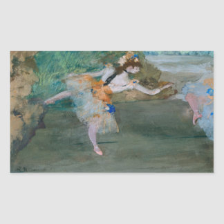 Edgar Degas - Dancer Onstage Rectangular Sticker