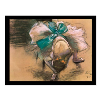 Edgar Degas Dancer Tying Her Shoe Ribbons Postcard