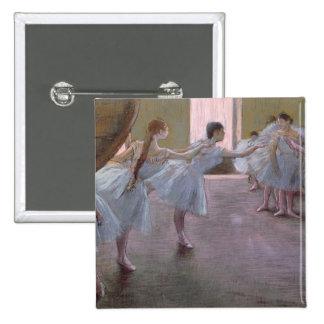 Edgar Degas   Dancers at Rehearsal, 1875-1877 15 Cm Square Badge