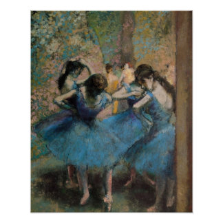 Edgar Degas | Dancers in blue, 1890 Poster