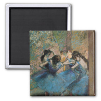 Edgar Degas | Dancers in blue, 1890 Square Magnet