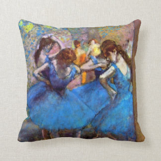 Edgar Degas - Dancers In Blue - Ballet Dance Lover Throw Pillow