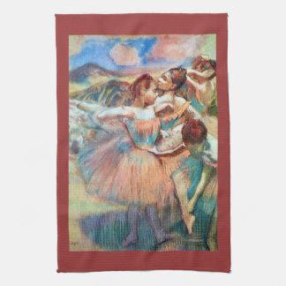 Edgar Degas - Dancers in the landscape Tea Towel