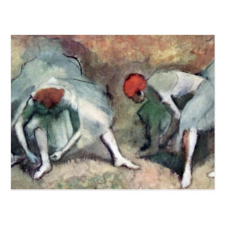 Edgar Degas - Dancers lace their shoes Post Cards