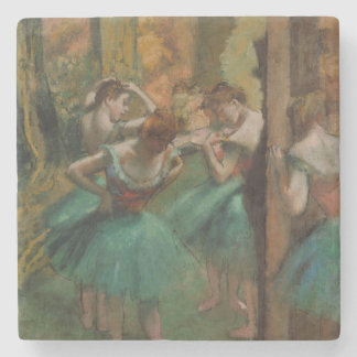 Edgar Degas Dancers Pink and Green Coaster