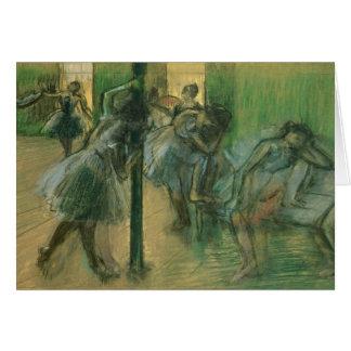 Edgar Degas | Dancers rehearsing Card