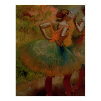 Edgar Degas   Dancers Wearing Green Skirts Postcard