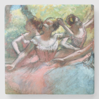 Edgar Degas | Four ballerinas on the stage Stone Coaster
