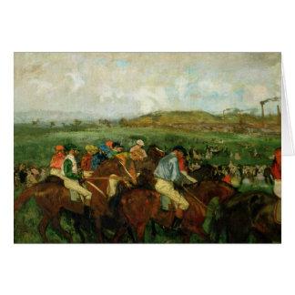 Edgar Degas | Gentlemen race, Before the Departure Card