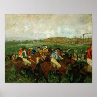 Edgar Degas | Gentlemen race, Before the Departure Poster