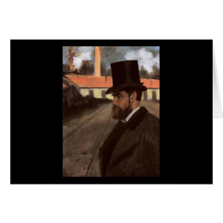 Edgar Degas Henri Rouart in front of his factory Card