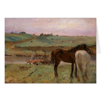 Edgar Degas - Horses in a Meadow Card