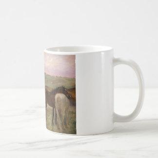Edgar Degas - Horses in a Meadow Coffee Mug