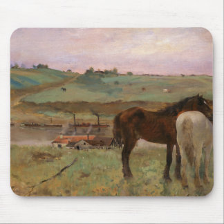 Edgar Degas - Horses in a Meadow Mouse Pad